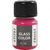 Glasfärg frost, röd, 30 ml/ 1 flaska