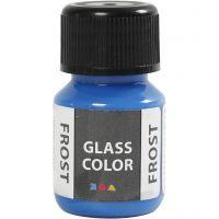 Glasfärg frost, blå, 30 ml/ 1 flaska