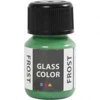 Glasfärg frost, grön, 30 ml/ 1 flaska