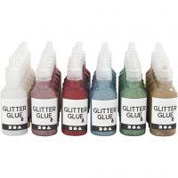 Glitterlim, 36x25 ml/ 1 förp.