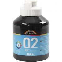 Skolfärg, akryl, matt, matt, svart, 500 ml/ 1 flaska