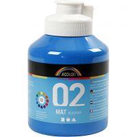 Skolfärg, akryl, matt, matt, primärblå, 500 ml/ 1 flaska