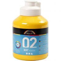 Skolfärg, akryl, matt, matt, gul, 500 ml/ 1 flaska