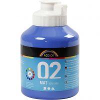 Skolfärg, akryl, matt, matt, blå, 500 ml/ 1 flaska