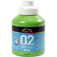 Skolfärg, akryl, matt, matt, ljusgrön, 500 ml/ 1 flaska