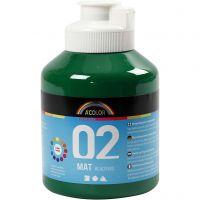 Skolfärg, akryl, matt, matt, mörkgrön, 500 ml/ 1 flaska