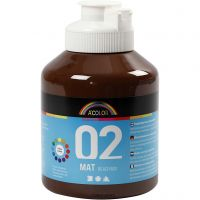 Skolfärg, akryl, matt, matt, brun, 500 ml/ 1 flaska
