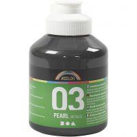 Skolfärg akryl, metallic, metallic, svart, 500 ml/ 1 flaska