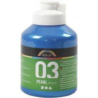 Skolfärg akryl, metallic, metallic, blå, 500 ml/ 1 flaska