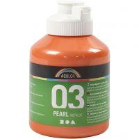 Skolfärg akryl, metallic, metallic, orange, 500 ml/ 1 flaska