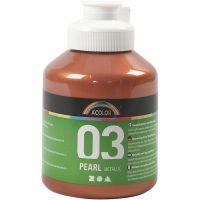 Skolfärg akryl, metallic, metallic, metallickoppar, 500 ml/ 1 flaska