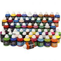 A-Color akrylfärg, mixade färger, 57x500 ml/ 1 förp.