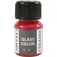 Glass Ceramic, karminröd, 35 ml/ 1 flaska