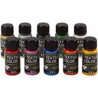 Textile Color, pärlemor, mixade färger, 10x50 ml/ 1 förp.