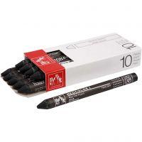 Neocolor I, L: 10 cm, tjocklek 8 mm, black (009), 10 st./ 1 förp.