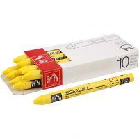 Neocolor I, L: 10 cm, tjocklek 8 mm, yellow (010), 10 st./ 1 förp.