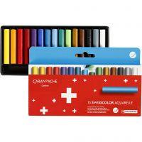 Neocolor II akvarellkritor, L: 5 cm, mixade färger, 15 st./ 1 förp.