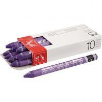 Neocolor II akvarellkritor, L: 10 cm, violet (120), 10 st./ 1 förp.