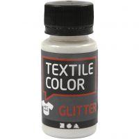Textile Color textilfärg, glitter, transparent, 50 ml/ 1 flaska
