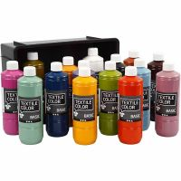 Textile Color textilfärg, mixade färger, 15x500 ml/ 1 förp.