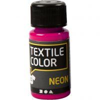 Textile Color textilfärg, neonrosa, 50 ml/ 1 flaska