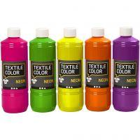 Textile Color textilfärg, mixade färger, 5x500 ml/ 1 förp.