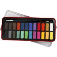 Akvarellset, stl. 12x30 mm, mixade färger, 24 färg/ 1 förp.