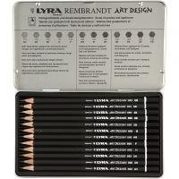 Lyra Art Design byertspennor, hårdhet F, 12 st./ 1 förp.