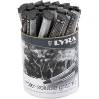 Lyra akvarellstift, grafit, L: 6,5 cm, 24 st./ 1 förp.