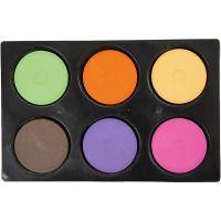 Vattenfärg, H: 16 mm, Dia. 44 mm, kompletterande färger, 1 set