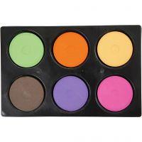 Vattenfärg, H: 19 mm, Dia. 57 mm, kompletterande färger, 1 set