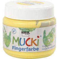 Fingerfärg, gul, 150 ml/ 1 burk