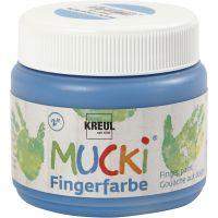 Fingerfärg, blå, 150 ml/ 1 burk