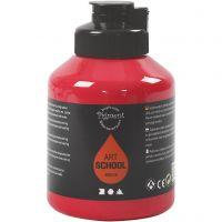 Pigment Art School, semi transparent, primärröd, 500 ml/ 1 flaska