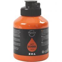 Pigment Art School, semi transparent, orange, 500 ml/ 1 flaska