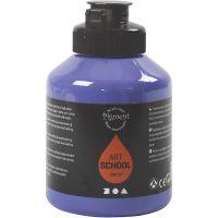 Pigment Art School, semi transparent, violet blue, 500 ml/ 1 flaska