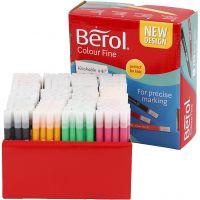 Berol Colourfine, spets 0,3-0,7 mm, mixade färger, 288 st./ 1 förp.