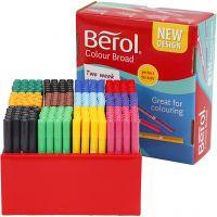 Berol Tusch, spets 1-1,7 mm, mixade färger, 288 st./ 1 förp.