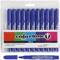 Colortime tuschpennor, spets 5 mm, blå, 12 st./ 1 förp.
