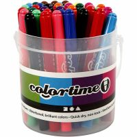 Colortime tuschpennor, spets 5 mm, mixade färger, 42 st./ 1 förp.