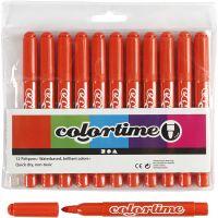 Colortime tuschpennor, spets 5 mm, mörkorange, 12 st./ 1 förp.