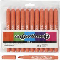 Colortime tuschpennor, spets 5 mm, mandarin, 12 st./ 1 förp.