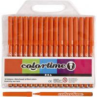 Colortime tuschpennor, spets 2 mm, orange, 18 st./ 1 förp.