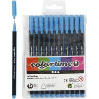 Colortime Fineliner Tusch, spets 0,6-0,7 mm, ljusblå, 12 st./ 1 förp.