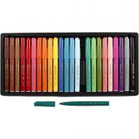Visa Color tusch, spets 3 mm, mixade färger, 24 st./ 1 förp.