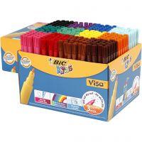 Visa Fin tusch - STORPACK, spets 1,6 mm, mixade färger, 12x24 st./ 1 förp.