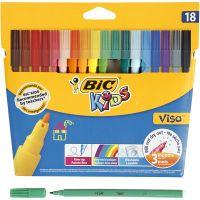 Visa Fin tusch - STORPACK, spets 1,6 mm, mixade färger, 18 st./ 1 förp.