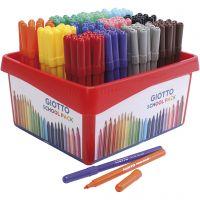 GIOTTO tuschpennor, spets 2,8 mm, mixade färger, 12x12 st./ 1 förp.