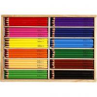 Färgpennor, kärna 5 mm, JUMBO, mixade färger, 144 st./ 1 förp.