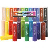 Soft Color Stick, L: 8 cm, mixade färger, 12 st./ 1 förp.